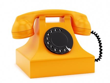 hacer de un tel�fono retro, aislado en blanco