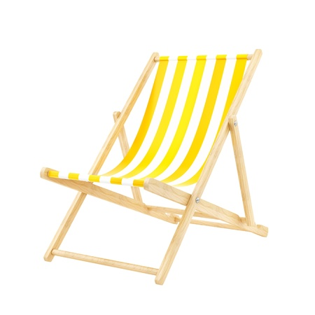 beach chair: render of a deck chair, isolated on white