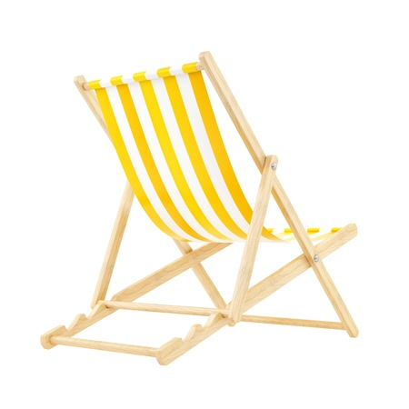 render of a yellow deck chair, isolated on white  Stock Photo