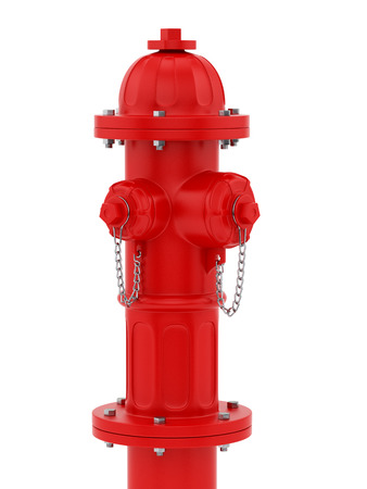 hydrant plug: render of a red fire hydrant, isolated on white