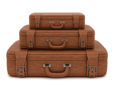 render of a suitcase , isolated on white Stock Photo