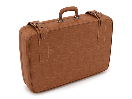 render of a suitcase , isolated on white photo