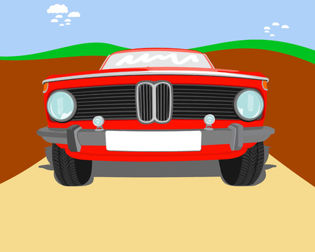 grille: Old-school red vector