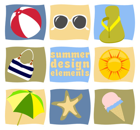 starfish beach: Summer design elements vector Illustration