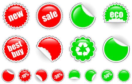 Round stickers Stock Vector - 6799390