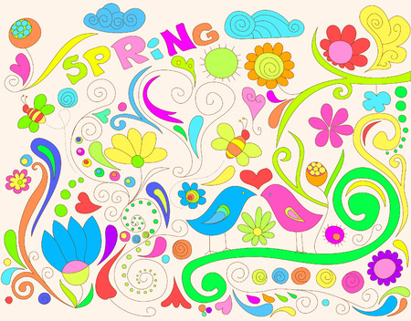 Colorful spring doodle Stock Vector - 7200225