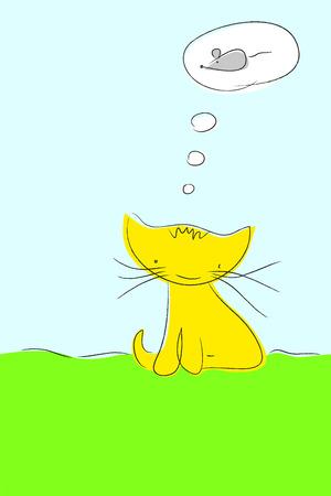 fantasize: Gato so�ar con rat�n