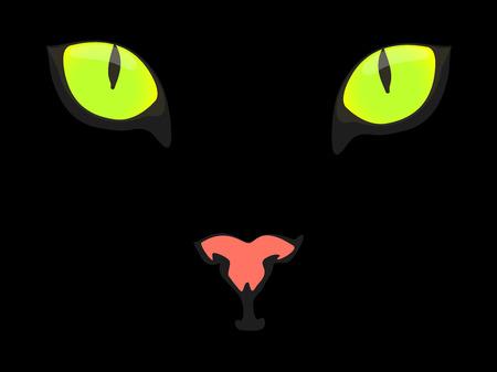 Black cat Stock Vector - 7778711