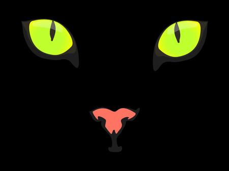 spooky eyes: Black cat