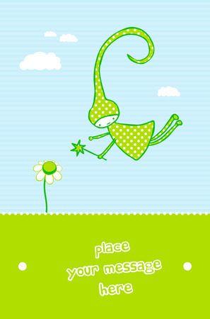 Cute card for kids Vector