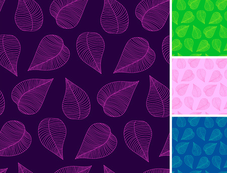 seamless leaves pattern Stock Vector - 8277342