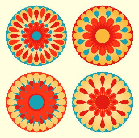 folk art: floral mandalas