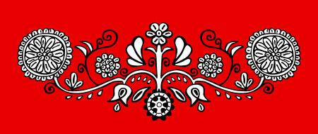 elemento de arte folclórico mano  Ilustración de vector