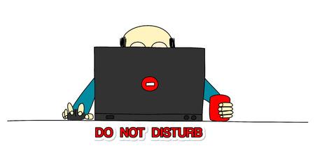 not: no molestar Vectores