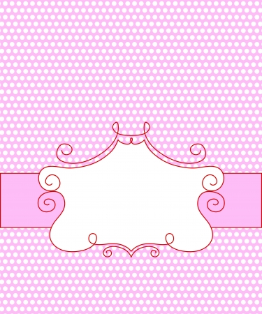 candy frame Vector