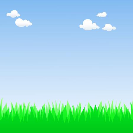 Spring field Stock Vector - 8977917