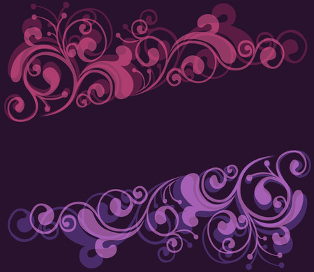 feminine background: Marco floral  Vectores