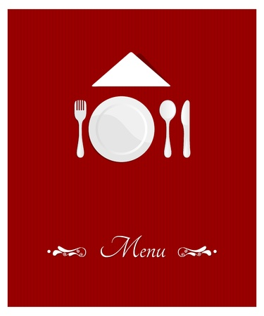 white napkin: menu cover