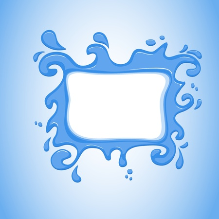 cartoon water splash