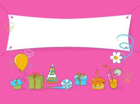 Birthday doodle Stock Vector - 9270963