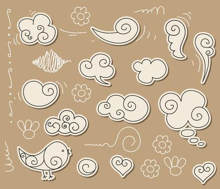 Doodle nuage Banque d'images - 9387162