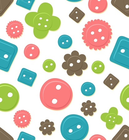Seamlessly tileable, colorful button pattern Vector