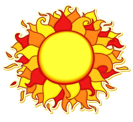 Bright and colorful sun illustration Vector