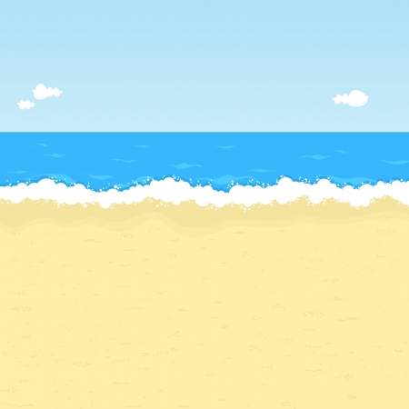 Seaside illustration with space for your message. Vector