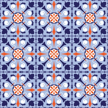moroccan: colorful arabic style tiles - seamless pattern