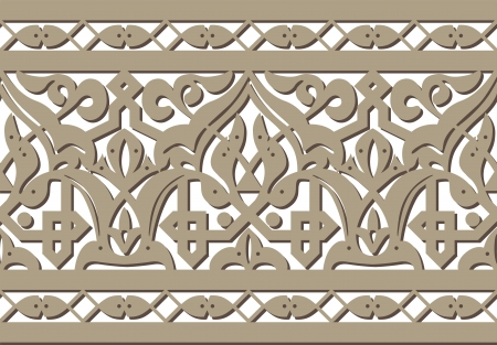 Horizontal seamless Arabic style pattern Illustration