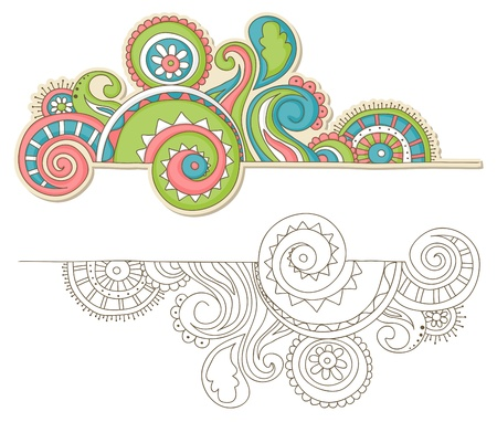 Colorful happy doodle