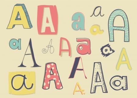 Various  letter  Vector