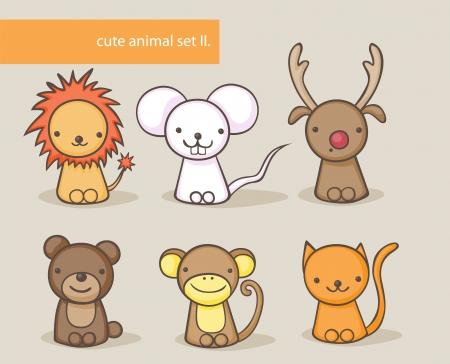 raton caricatura: Colección de animales lindos