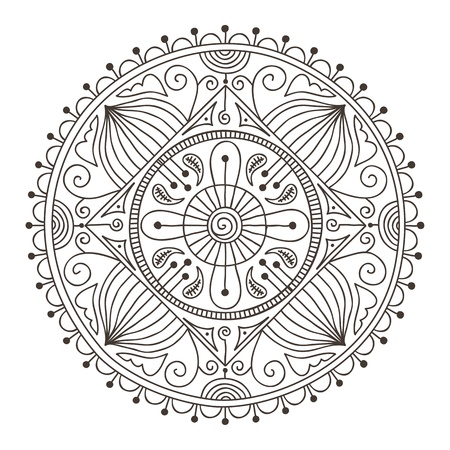 Beautiful hand-drawn doodle mandala Stock Vector - 17094604