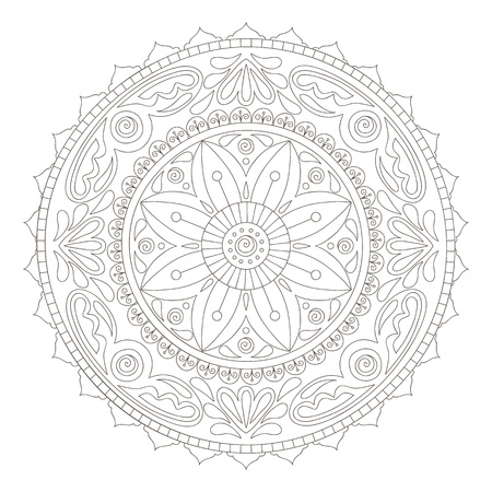 Beautiful hand-drawn doodle mandala Vector