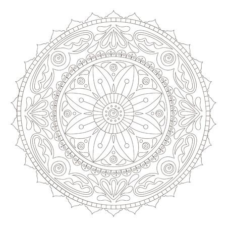religion ritual: Beautiful hand-drawn doodle mandala
