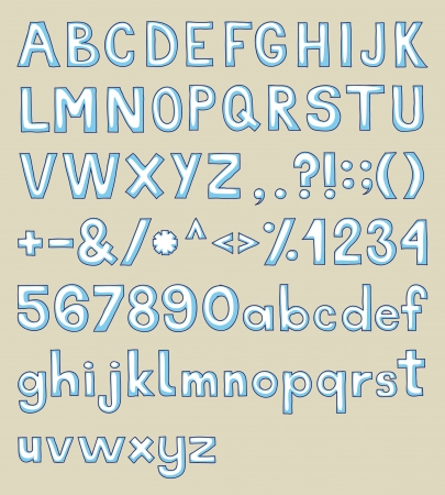 c r t: Hand drawn alphabet, upper and lower case and symbols.