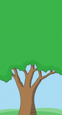 Doodle tree background with space for your message Stock Vector - 18294027