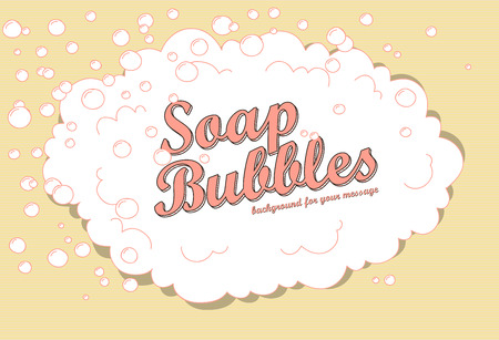Retro soap bubble background with space