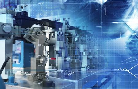 Automatische assemblagetechnologie Stockfoto