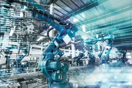 로봇 생산 공장 스톡 콘텐츠