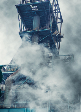 gaseous emission of a factory Stock Photo
