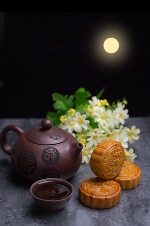 Chinese Mid Autumn Festival moon cake Stock fotó
