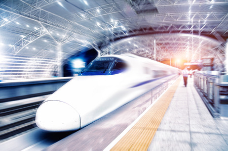 View of a bullet train 新聞圖片