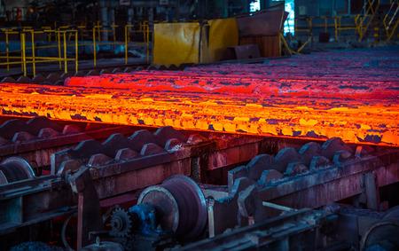 Lingot chaud après la coulée d'acier