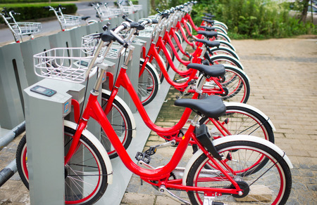 Share bicycles, a popular bike sharing platform where users can access bikes through applications in many cities in China.