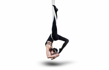 Yoga in the air Archivio Fotografico
