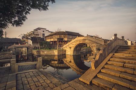 The ancient town of Dang Kou, Wuxi, China 版權商用圖片