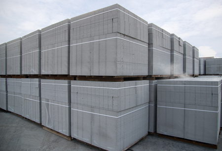 aerated concrete block Stock Photo