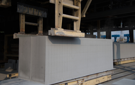 Production site of aerated concrete block